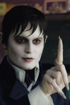 Tim Burton movie makeup. Dark Shadows. So funny. :)