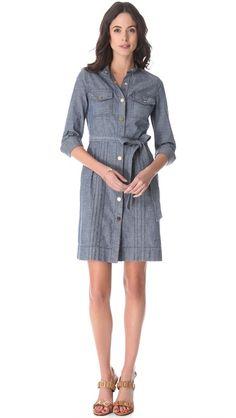 Tory Burch Cora Denim Dress | SHOPBOP