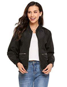 ed572d079bc Escalier Women Faux Leather Bomber Jacket Zipper Moto Biker Coat Outwear