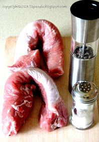 położyć polędwiczkę i okryć ją szczelnie, a za pomocą Pork, Food And Drink, Meat, Cooking, Impreza, Cooking Recipes, Kale Stir Fry, Kitchen, Pork Chops