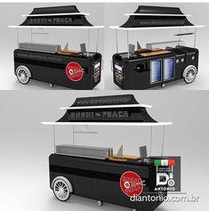 Mobile Food Cart, Mobile Food Trucks, Food Cart Design, Food Truck Design, Museum Exhibition Design, Food Truck Business, Waffle House, Toy Kitchen, Kiosk