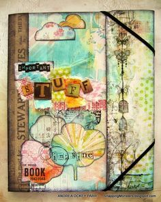 Decorative Folio by Andrea for the Simon Says Stamp Monday challenge ( O is for? ) October 2014