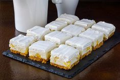 An old time, no-bake Newfoundland Cookie Bar recipe thats been updated with a bit of a reinvention and a new flavour addition. No Bake Desserts, Easy Desserts, Delicious Desserts, Dessert Recipes, Cheesecake Recipes, Healthy Desserts, Pineapple Squares, Lemon Squares, Yummy Treats