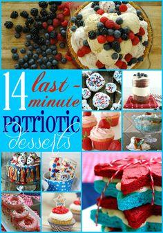 14 Last-Minute Patriotic Desserts | TheTurquoiseHome.com