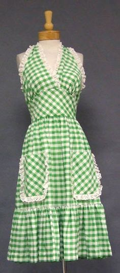 Adorable gingham apron.