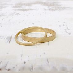 Wedding Rings Sets Gold, Wedding Band Sets, Matte Satin, Unisex, Elegant, Solid Gold, Engagement Rings, Sottile, Satin Finish