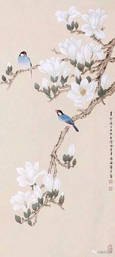 use this idea with box canvas Japan Painting, Ink Painting, Watercolor Art, Art Chinois, Chinoiserie Wallpaper, Art Japonais, Korean Art, China Art, Japan Art