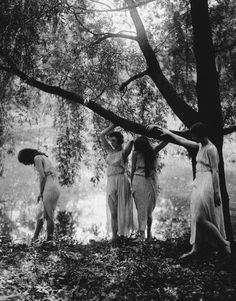 under-the-gaslight: Wood Nymphs c. 1917