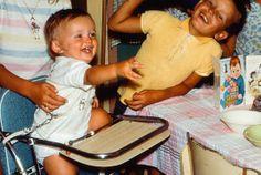 child with #reins in #highchair #harnesskids @HarnessKids