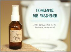 This homemade air freshener is a simple, versatile spray you can use to remove odors from any area, not just bathrooms. Put it your purse for on the go use!
