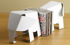 Origami Elephant Bookends