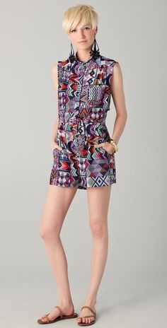 Mara Hoffman Vent Back Shortie Romper, via ShopBop #BurnOutSummer