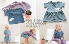 Ga naar Nederlandstalig patroon & tutorial The Fons & Sien sewing pattern. Available in sizes A fast go-to pattern here at the WenSJe residence. I named it after my very first sewi… Baby Girl Patterns, Childrens Sewing Patterns, Kids Patterns, Sewing Patterns Free, Free Pattern, Sewing Projects For Kids, Sewing For Kids, Sewing Clothes, Diy Clothes