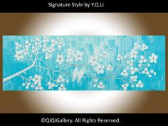 Abstract  landscape painting Original Heavy Texture by QiQiGallery, $185.00