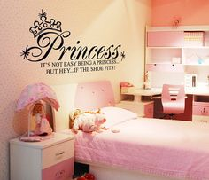 It's not easy being a princess Wall DecalWall by MissAuraWallDecal