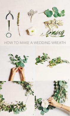 Evergreen DIY Wedding Wreath | Weddingomania