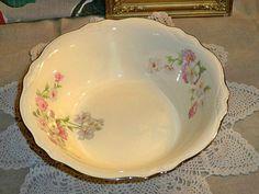 Vintage Homer Laughlin China Virginia Rose Vegetable Bowl.