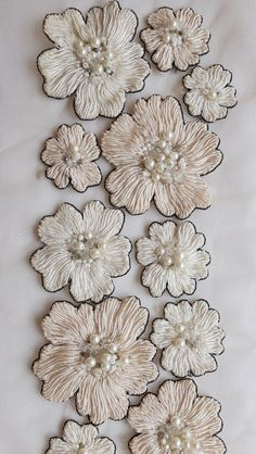 Wonderful Ribbon Embroidery Flowers by Hand Ideas. Enchanting Ribbon Embroidery Flowers by Hand Ideas. Types Of Embroidery, Learn Embroidery, Hand Embroidery Designs, Embroidery Art, Embroidery Stitches, Embroidery Patterns, Machine Embroidery, Flower Embroidery, Embroidery Supplies