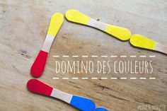 Domino des couleurs DIY - blog Prune et Violette Montessori Activities, Kindergarten Activities, Preschool Activities, Preschool Colors, Core French, Games For Toddlers, Kids Corner, Craft Stick Crafts, Diy Toys