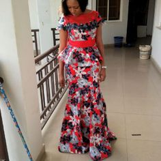 Ankara can be trendy! A hint of a hue and pop of bright shoes will give a classic print an instant update. With genuinely bespoke tailoring for the most perfect fit, you African Print Dresses, African Print Fashion, Africa Fashion, African Fashion Dresses, Fashion Outfits, African Attire, African Wear, African Women, Ankara Skirt And Blouse