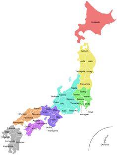 regiones y prefecturas de Japón