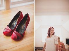 red wedding shoes http://www.paulfullerkentphotography.com/