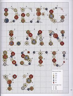 Button alphabet 2