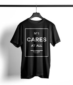 No. one cares at all unisex shirt printing  cute by aRebelsDiamond