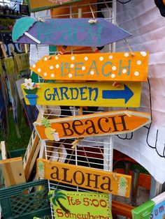 beachy garden signs