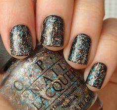 """""""Save Me"""" from the OPI Nicki Minaj collection. This is just an awesome glitter - regular glitter with a bar glitter. (Not my photo BTW). Highly recommended.  :)"""