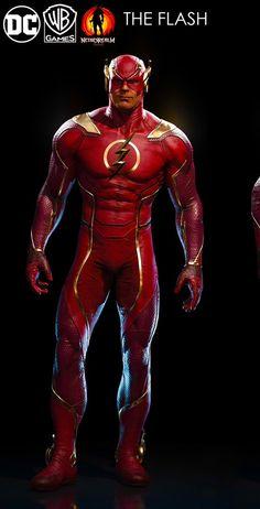 The Flash from Injustice 2 Captain Marvel Shazam, Marvel Vs, Marvel Dc Comics, Superhero Suits, Superhero Villains, Batman And Superman, Spiderman, O Wolverine, Flash Comics