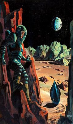 Prelude to Space, Galaxy Science Fiction digest cover, 1951 // Bunch