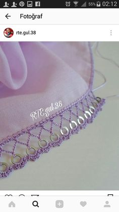 Alıntı Embroidery Scarf, Hand Embroidery, Embroidery Designs, Crochet Doilies, Crochet Lace, Crochet Borders, Crochet Patterns, Love Decorations, Diy Scarf