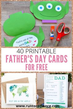 Did you know that you don't even have to leave your house to get some cards for Father's Day? Check out these FREE printable Father's Day cards that you can put together right in your own home! Diy Gifts Cheap, Easy Diy Gifts, Printable Cards, Free Printables, Kid Picks, Some Cards, Fathers Day Cards, Book Gifts, Kids Cards