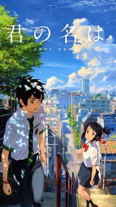 Your Name. Wallpapers Kawaii, Animes Wallpapers, Anime Films, Anime Characters, Personajes Studio Ghibli, Your Name Wallpaper, Anime Suggestions, Your Name Anime, Japon Illustration