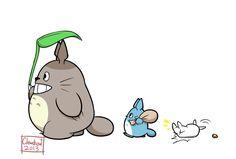 Forgot to post this lol~ Love this movie =] My Neighbor Totoro Miyazaki Totoro Sticker Ghibli Tattoo, Studio Ghibli Art, Studio Ghibli Movies, Film Anime, Manga Anime, Manga Girl, Anime Naruto, Anime Girls, Spirited Away