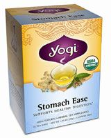 Yogi Organic Herbal Tea Stomach Ease. Helps me with the symptoms of my gastroparesis.