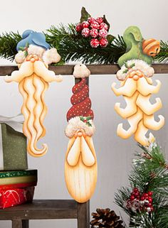 Long Beard Santa Ornaments