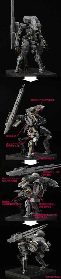 "[METAL GEAR SOLID V:THE PHANTOM PAIN] RIOBOT Series ""Metal Gear Sahelanthropus"" ""Metal Gear REX"" Full Official REVIEW, Full Info http://www.gunjap.net/site/?p=274337"