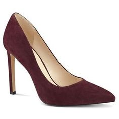 For the Gianvito Rossi 'Gianvito 105' Royale Burgundy Suede Pumps