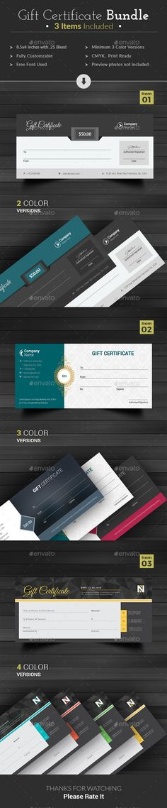 Gift Certificate - Gift Voucher Template Bundle - Save Big - Download https://graphicriver.net/item/gift-certificate/18354640?ref=themedevisers