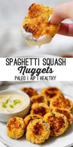 These spaghetti squash nuggets are a delicious veggie-packed snack! They're paleo AIP and a healthy side dish or snack! These spaghetti squash nuggets are a delicious veggie-packed snack! They're paleo AIP and a healthy side dish or snack! Autoimmun Paleo, Paleo Menu, Best Paleo Recipes, Paleo Cookbook, Dieta Paleo, How To Eat Paleo, Paleo Food, Gaps Diet Recipes, Paleo Grubs