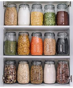 My Zero-Waste Pantry . So as many of you know Ive been trying to make a bigger e… My Zero-Waste Pantry . So as many of you know Ive been trying to make a bigger effort to try minimise and/or eliminate waste in my home & the easiest place for me to do this Kitchen Pantry Design, Kitchen Jars, Kitchen Decor, Kitchen Cupboard, Kitchen Storage Jars, Mason Jar Storage, Smart Kitchen, Kitchen Shelves, Kitchen Organization Pantry