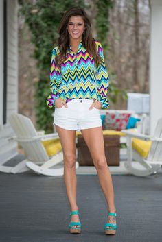 Each And Every Day Shorts, White