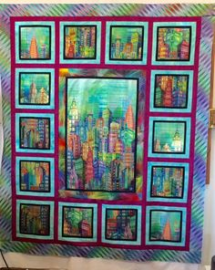 Name: cheryl's quilt. House Quilt Patterns, House Quilts, Quilt Block Patterns, Quilting Tutorials, Quilting Projects, Quilting Designs, Quilting Ideas, Sewing Projects, Fabric Panel Quilts