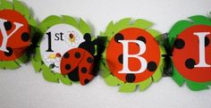 Lil' Ladybug Happy Birthday and Name Banner by KeikiCouture, $32.00