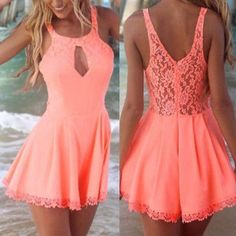 Cheap romper playsuit, Buy Quality woman jumpsuit summer directly from China rompers womens jumpsuit Suppliers: Preself rompers womens jumpsuit summer sexy lace halter openwork stitching Beach coveralls Harem Romper Playsuit Pretty Outfits, Pretty Dresses, Beautiful Dresses, Cute Outfits, Beach Outfits, Casual Dresses, Short Dresses, Summer Dresses, Spring Summer Fashion