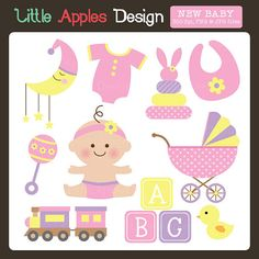 New Baby ClipArt / New Baby Clip Art / Girl Baby by DreamyDuck