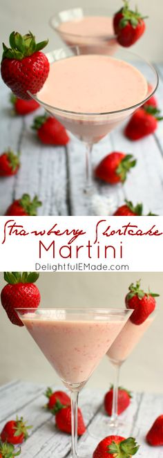 Made with strawberry puree, cake flavored vodka and cream liquor, this easy stra. - Made with strawberry puree, cake flavored vodka and cream liquor, this easy strawberry cocktail pac - Strawberry Cocktails, Strawberry Puree, Strawberry Desserts, Cocktail Desserts, Cocktail Drinks, Cocktail Recipes, Summer Drinks, Fun Drinks, Beverages