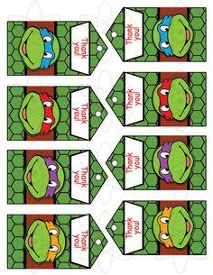 Printable Favor Tags, INSTANT DOWNLOAD, Teenage Mutant Ninja Turtles Favor Tags , TMNT FavorTags